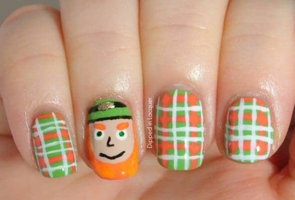 st patricks day nail art