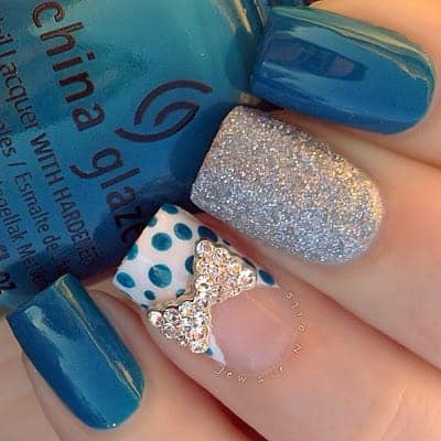Nails Designs 2014 With Bows 2