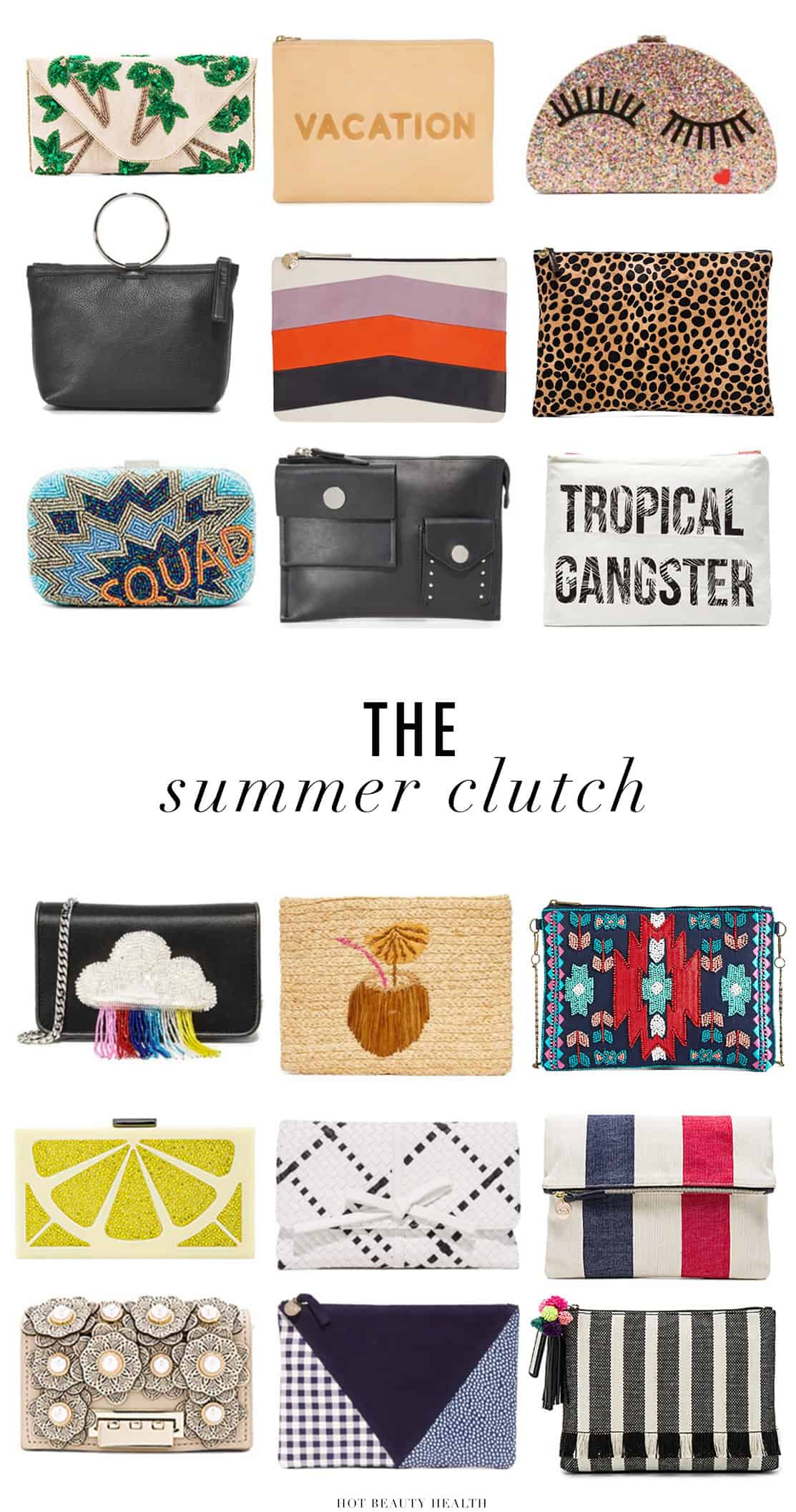 The perfect accessory to add to any casual or classy outfit is a summer clutch bag. I've rounded up 18 of the stylish clutches to liven up your summer look.