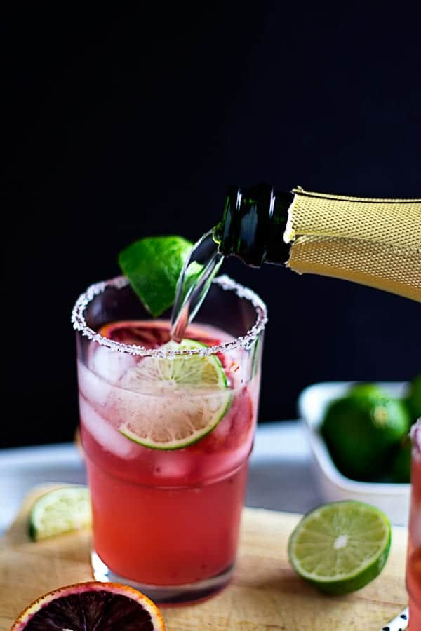 blood orange ginger ale mimosa cocktail recipe