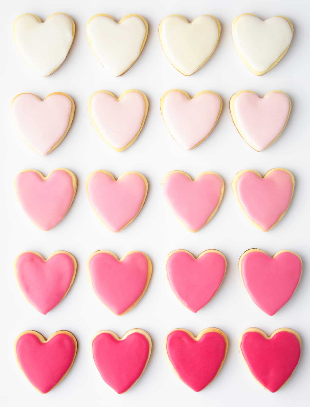 valentines day heart shaped sugar cookies