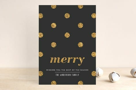 chic holiday cards