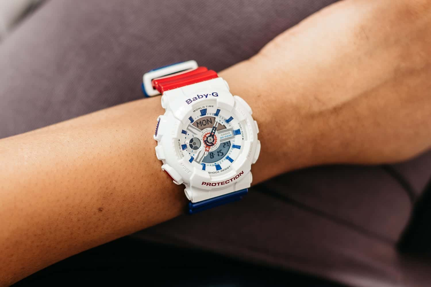 babbleboxx olympic gold casio baby g watch