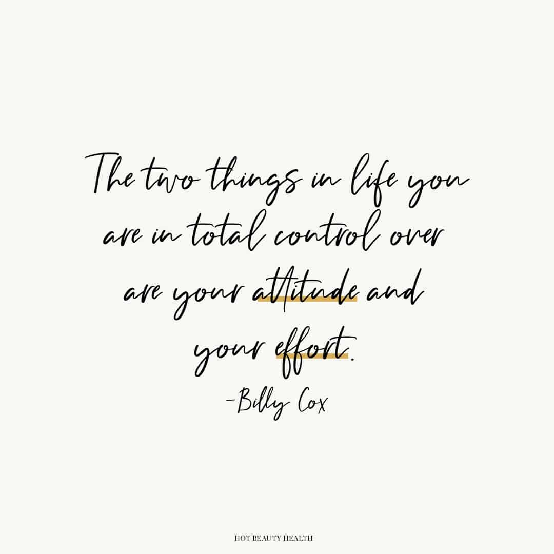 control of your attitude and effort quote