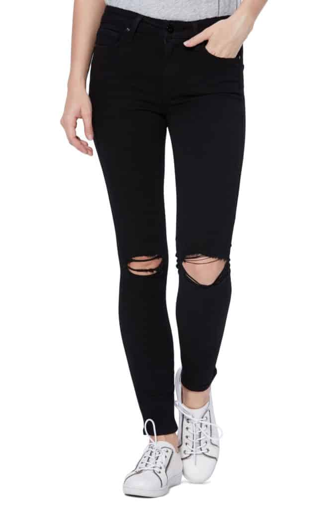 Paige Transcend Hoxton Ripped High Waist Ankle Skinny Jeans
