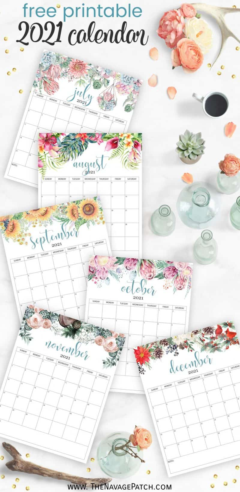 2021 floral calendar the navage patch