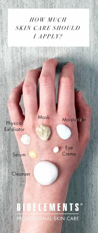 how much skincare should you apply cheatsheet bioelements